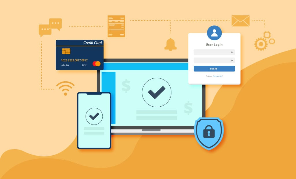 How does OmegaCube ERP enable Manufacturing & Distribution enterprises to securely accept Credit Card payments?